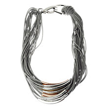 Buy Adele Marie Grey Cord Mixed Toned Metal Necklace Online at johnlewis.com