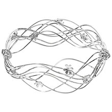 Buy Linda Macdonald Sterling Silver Flowing Wire Bangle Online at johnlewis.com