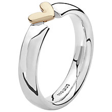 Buy Linda Macdonald Sterling Silver 9ct Gold Polished Heart Ring, Size N Online at johnlewis.com