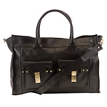 Buy COLLECTION by John Lewis Leather Workbag, Black Online at johnlewis.com