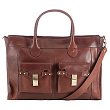 Buy COLLECTION by John Lewis Leather Work Bag, Tan Online at johnlewis.com