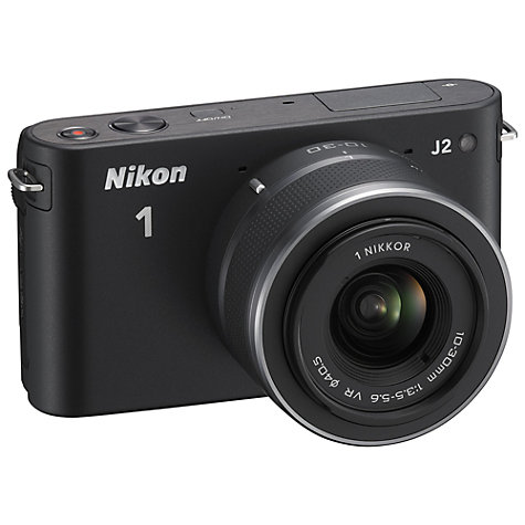 "Buy Nikon 1 J2 Compact System Camera, 10-30mm Lens, HD 1080p, 10.1MP, 3"" Screen with Case Online at johnlewis.com"