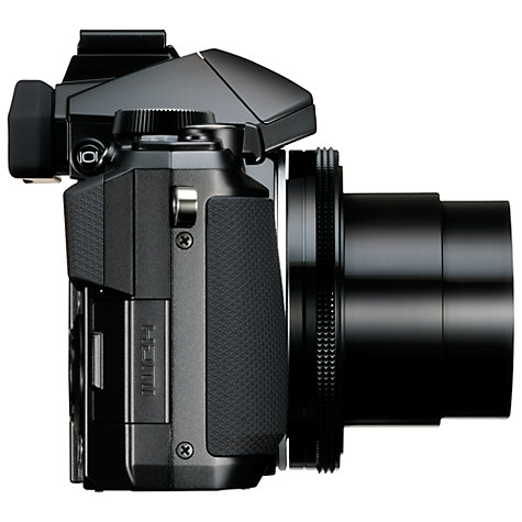 "Buy Olympus Stylus 1 Bridge Camera, HD 1080p, 12MP, 10.7x Optical Zoom, Wi-Fi, EVF, 3"" Screen, Black Online at johnlewis.com"