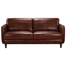 Buy John Lewis Hoxton Small Leather Sofa, Bonanza Chestnut Online at johnlewis.com