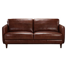 Buy John Lewis Hoxton Large Leather Sofa, Bonanza Chestnut Online at johnlewis.com