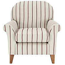Buy John Lewis Millie Armchair, Will Stripe Red Online at johnlewis.com