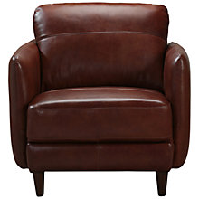 Buy John Lewis Hoxton Leather Armchair, Bonanza Chestnut Online at johnlewis.com