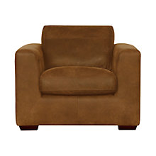 Buy John Lewis Burwood Leather Armchair, Masai Online at johnlewis.com