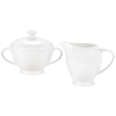 Royal Worcester Serendipity Bone China Sugar Bowl & Creamer Set, White