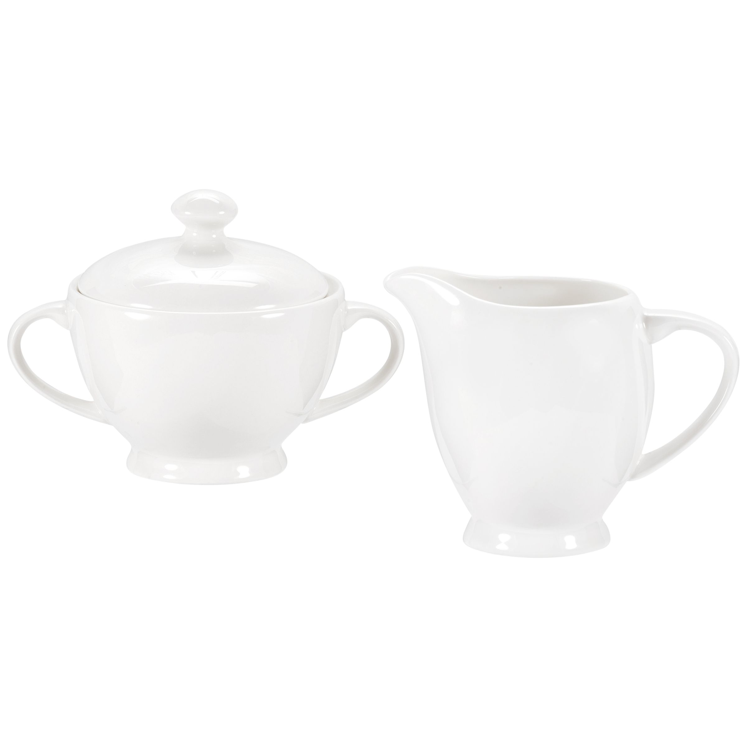 Royal Worcester Royal Worcester Serendipity Bone China Sugar Bowl & Creamer Set, White