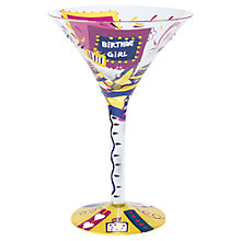 Buy Lolita Birthday Girl Martini Glass Online at johnlewis.com