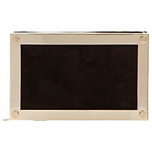 Buy Dune Eclipse Clutch Bag, Black/Gold Online at johnlewis.com