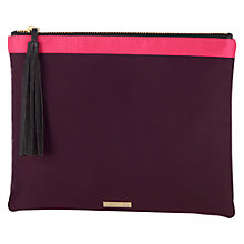 Buy Coast Zip Top Pouch, Aubergine Online at johnlewis.com