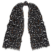 Buy Whistles Leopard Wool Scarf, Multi Online at johnlewis.com