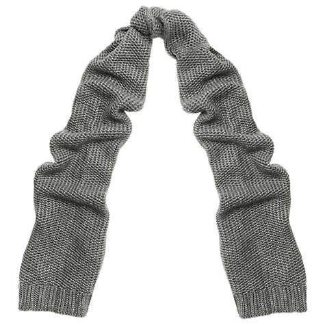 Buy Whistles Honeycomb Stitch Lurex Scarf, Grey Online at johnlewis.com