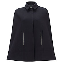 Buy Jigsaw Modern Wool Cape, Navy Online at johnlewis.com