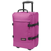 Buy Eastpak Transfer Small 2-Wheel Holdall, Punk Pink Online at johnlewis.com