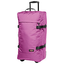 Buy Eastpak Transfer Large 2-Wheel Holdall, Punk Pink Online at johnlewis.com