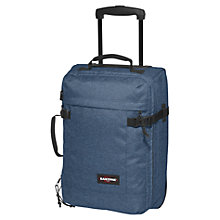 Buy Eastpak Transfer Extra Small 2-Wheel Suitcase, Denim Online at johnlewis.com