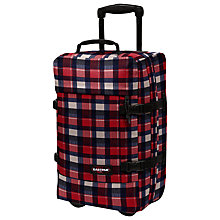 Buy Eastpak Transfer Small 2-Wheel Check Pattern Holdall, Checkbook Red/Navy Online at johnlewis.com