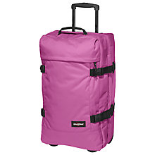 Buy Eastpak Transfer Medium 2-Wheel Holdall, Punk Pink Online at johnlewis.com