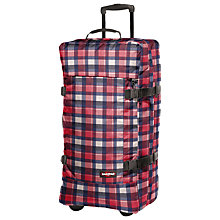Buy Eastpak Transfer Large 2-Wheel Holdall, Checkbook Red/Navy Online at johnlewis.com