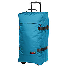 Buy Eastpak Transfer 4 Wheel Large Holdall, Whale Blue Online at johnlewis.com
