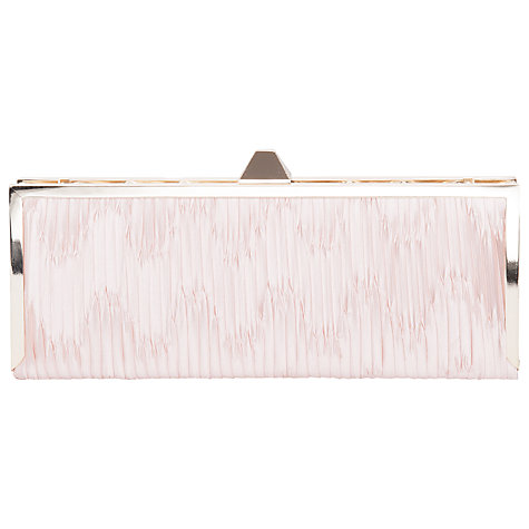 Buy French Connection Sofia Box Clutch Handbag, Rose Smoke Online at johnlewis.com