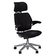 Buy Humanscale Freedom Office Chair with Headrest, Black Online at johnlewis.com