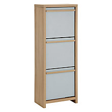Buy House by John Lewis Porto Shoe Storage Unit, Oak/Smoke Online at johnlewis.com