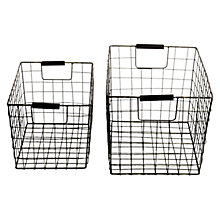 Buy Nkuku Huma Baskets, Set of 2, Grey Online at johnlewis.com