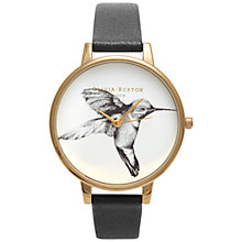 Buy Olivia Burton Women's Hummingbird Motif Leather Strap Watch Online at johnlewis.com