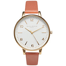 Buy Olivia Burton Women's Big Numerals Dial Leather Strap Watch Online at johnlewis.com