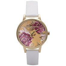 Buy Olivia Burton Women's Wonderland Flower Motif Leather Strap Watch Online at johnlewis.com