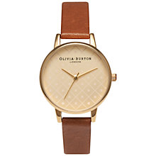 Buy Olivia Burton OB14MV05B Women's Modern Vintage Leather Strap Watch, Tan Online at johnlewis.com