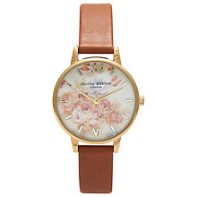 Buy Olivia Burton Women's Flower Show Motif Leather Strap Watch Online at johnlewis.com