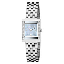 Buy Gucci G-Frame Women's Diamond Bezel Mother of Pearl Watch Online at johnlewis.com