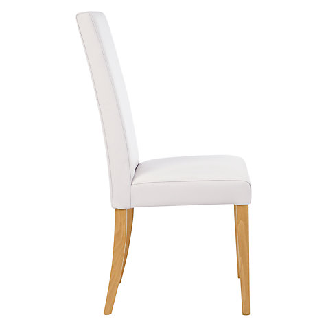 Buy John Lewis Lydia Leather Effect Dining Chair Online at johnlewis.com