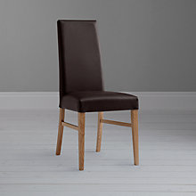 Buy John Lewis Vanessa Wax Leather Dining Chair Online at johnlewis.com
