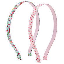 Buy John Lewis Girl Printed Metal Alice Bands, Pack of 2, Multi Online at johnlewis.com