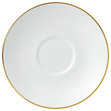 Buy Jasper Conran Gold Tea Saucer, Dia.16cm Online at johnlewis.com