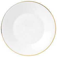 Buy Jasper Conran Gold Banded Plate, Dia.23cm Online at johnlewis.com