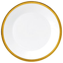 Buy Jasper Conran Gold Banded Plate, Dia.27cm Online at johnlewis.com