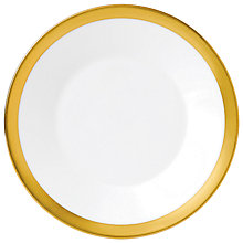 Buy Jasper Conran Gold Banded Plate, Dia.18cm Online at johnlewis.com