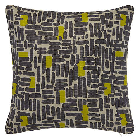 Buy John Lewis Bricks Cushion, Steel Online at johnlewis.com