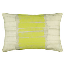 Buy John Lewis Brushstrokes Cushion, Citrine Online at johnlewis.com