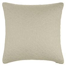 Buy John Lewis Embossed Cushion, Natural Online at johnlewis.com