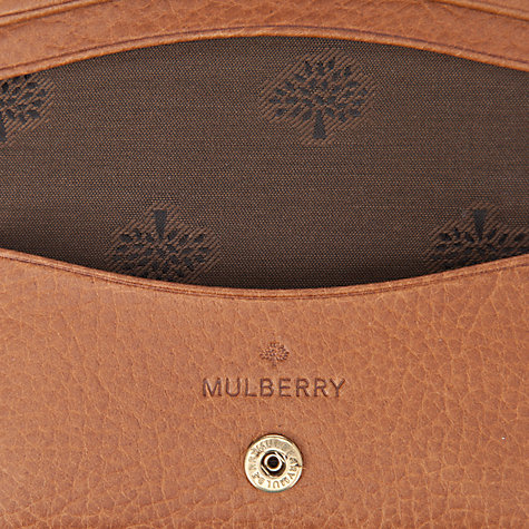 Buy Mulberry Natural Leather Card Case, Oak Online at johnlewis.com