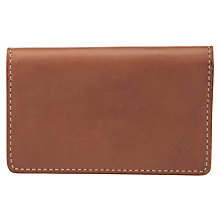Buy Mulberry Soft Saddle Leather Card Case, Oak Online at johnlewis.com