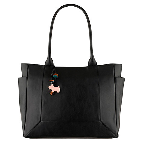 Buy Radley Border Large Zip Top Tote, Black Online at johnlewis.com
